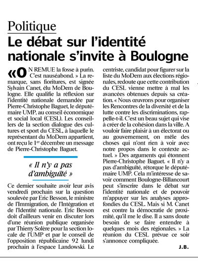 LeParisien9 dec2009