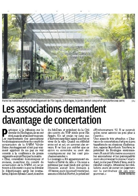 Le Parisien 7 juillet10 concertation