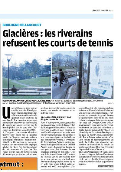 Le Parisien 27 janv 11
