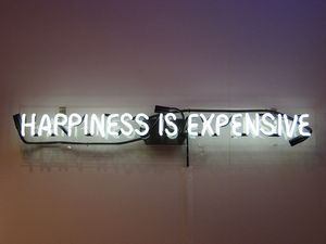 Hapiness is expensive