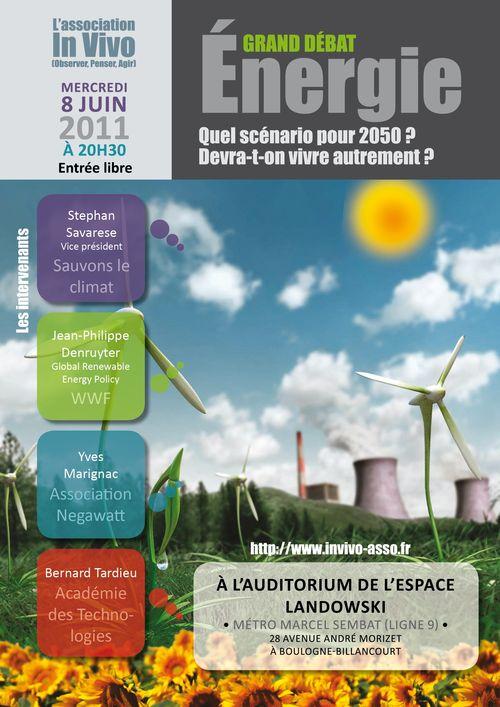 Invivo2011 affiche débat sur Energie