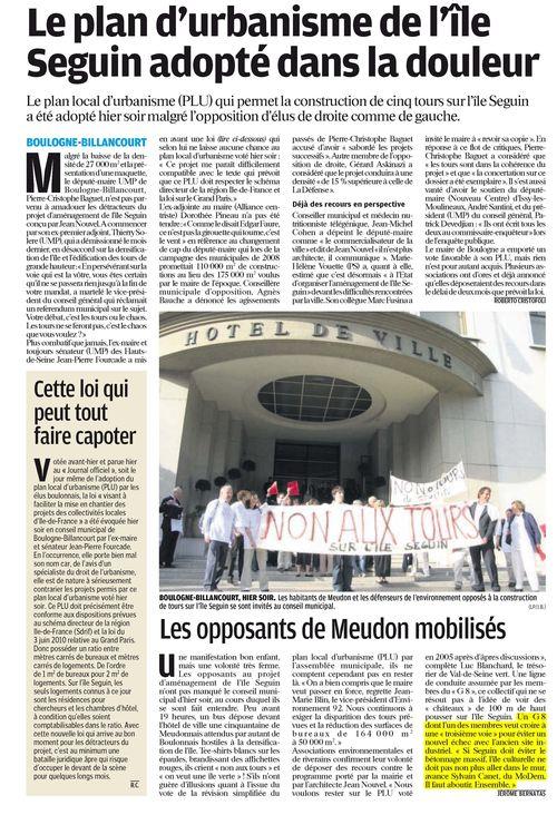Le Parisien 17 juin 11