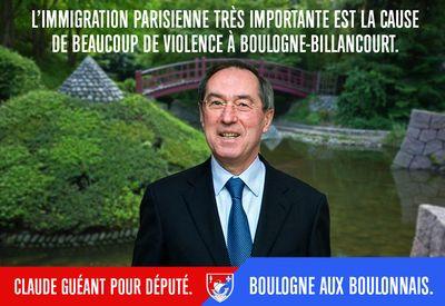 Guéant campagne législative Immigration parisienne