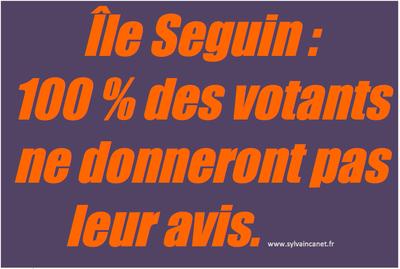 île seguin, 100% des votants ne donneront pas leur avis