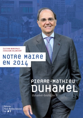 Affiche Pierre mathieu Duhamel Boulogne billancourt mars 2014